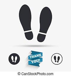 Imprint shoes sign icon. Shoe print symbol - Imprint soles...