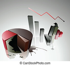 economic crisis - Vector illustration of economic crisis on...