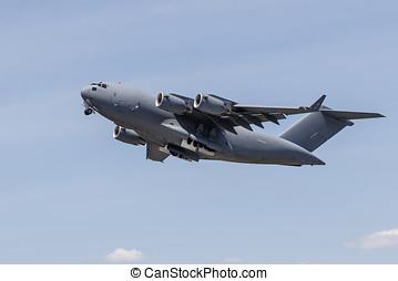 C-17 Globemaster III - A C-17 Globemaster III heavy military...