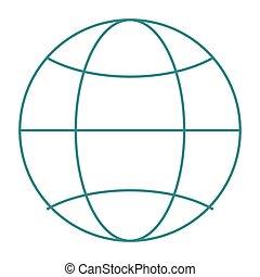earth globe diagram icon