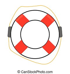 life preserver icon - simple flat design life preserver icon...