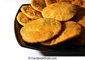 Kachauri - Kacahuri or stuffed poori, an Indian bread...