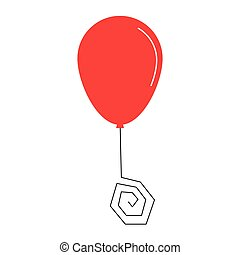 party balloon icon - simple flat design party balloon icon...