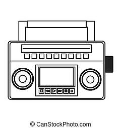 classic boom box icon - flat design classic boom box icon...