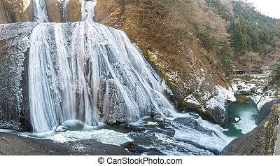 Fukuroda Fall Winter - Fukuroda Falls Waterfall in Ibaraki...