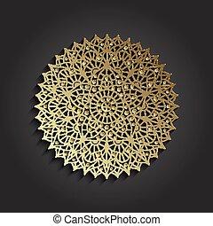 Chakra Sahasrara pictogram. Yoga symbol. Vector...