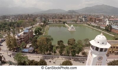 Aerial view of Kathmandu in Nepal - Aerial view of Rani...