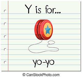 Flashcard letter Y is for yo-yo illustration