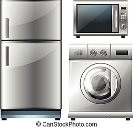 Electronic equipment in modern design illustration