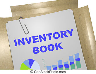 Inventory Book concept - 3D illustration of INVENTORY BOOK...