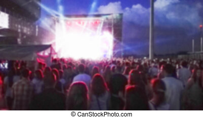 Blurred background with concert