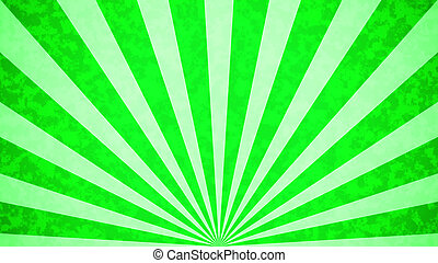 retro background - Green Sun burst retro background design