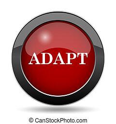 Adapt icon Internet button on white background