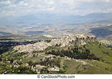 Leonforte quater - View of Leonforte from Enna, Sicily