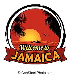 Welcome to Jamaica sign - Welcome to Jamaica concept in...