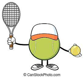 Tennis Ball Faceless With Hat - Tennis Ball Faceless Player...