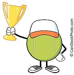 Tennis Ball Faceless Holding A Cup - Tennis Ball Faceless...