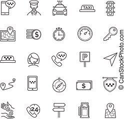 Taxi icons set for your design