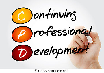 CPD - Continuing Professional Development - Hand writing CPD...