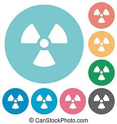 Flat radiation icons