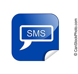 button sms - illustration of a button