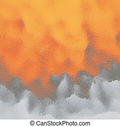 Fire Vector Background Mosaic Abstract Mesh Illustration...