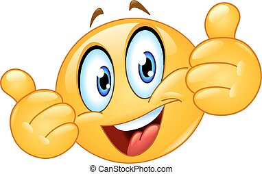 Thumbs up emoticon - Emoticon showing thumbs up