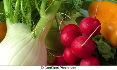 Different sorts of vegetables, selective focus
