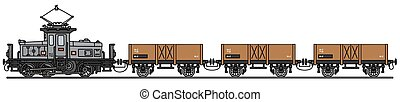 Vintage electric cargo train