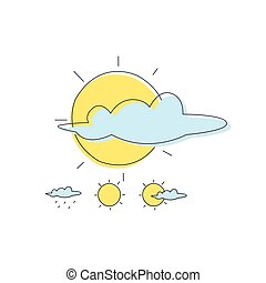 Weather Forecast Sun And Cloud Combinations