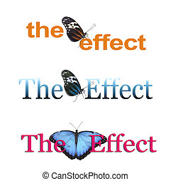 The Butterfly Effect x 3 - Three different banners each with...