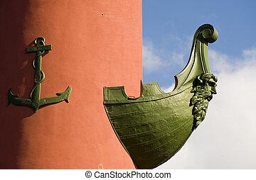 Rostral column - Detail of a Rostral column in Sankt...