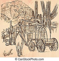 Wild West Sheriff - An hand drawn vector - An hand drawn...