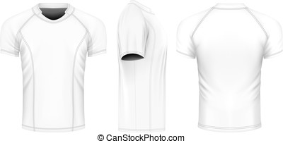 Rugby vector jersey - Rugby jersey, front, back and side...