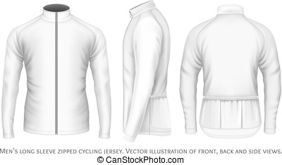 Long sleeve cycling jersey for men. Fully editable handmade...