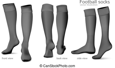 Football vector socks - Football socks Fully editable...