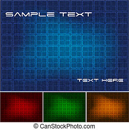 Dark backgrounds set  - Set of simple abstract backgrounds