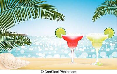 Summer seascape blur bokeh