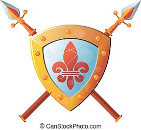 shield with Spear