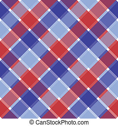 Patriotic Plaid - An illustration of a patriotic red and...