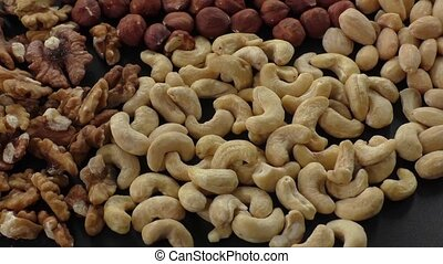 Almonds, cashew, walnuts