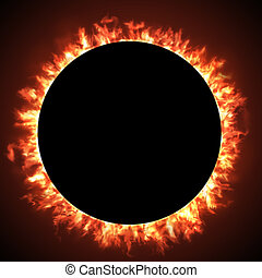 the Solar eclipse - Solar eclipse of a black hole sun in...