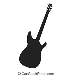 electric guitar icon - flat design electric guitar icon...
