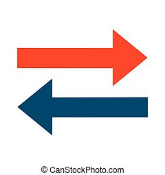 left right arrows icon - simple flat design left right...