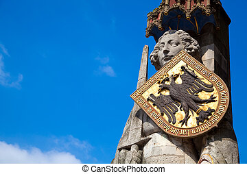 Statue of Roland, Bremen, Germany - The statue of Roland in...