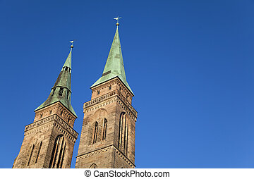 St Sebaldus Church, Nuremberg Germany - The Towers of St...