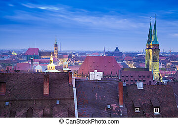 Nuremberg Skyline (Germany)