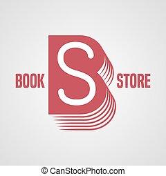 Bookstore, bookshop vector logo, emblem, sign, symbol. Book...