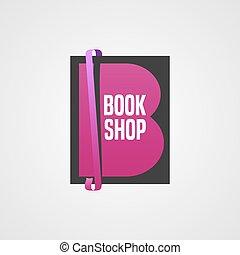 Bookstore, bookshop vector icon, logo - Bookstore, bookshop...