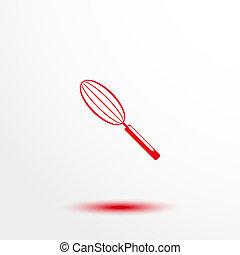 Kitchen whisk. - Color vector illustration.